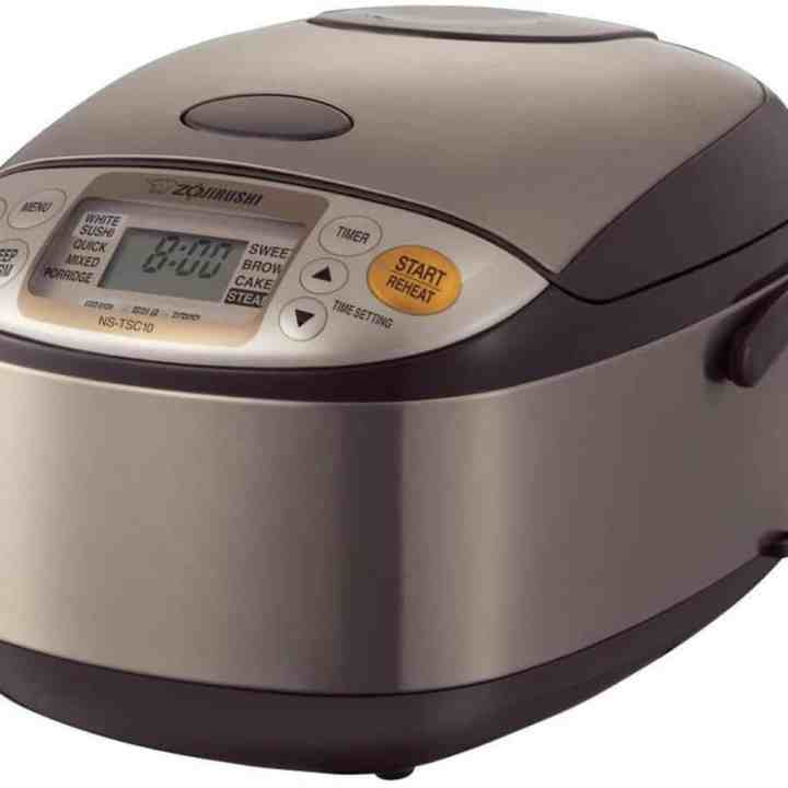zojirushi rice cooker against a white background