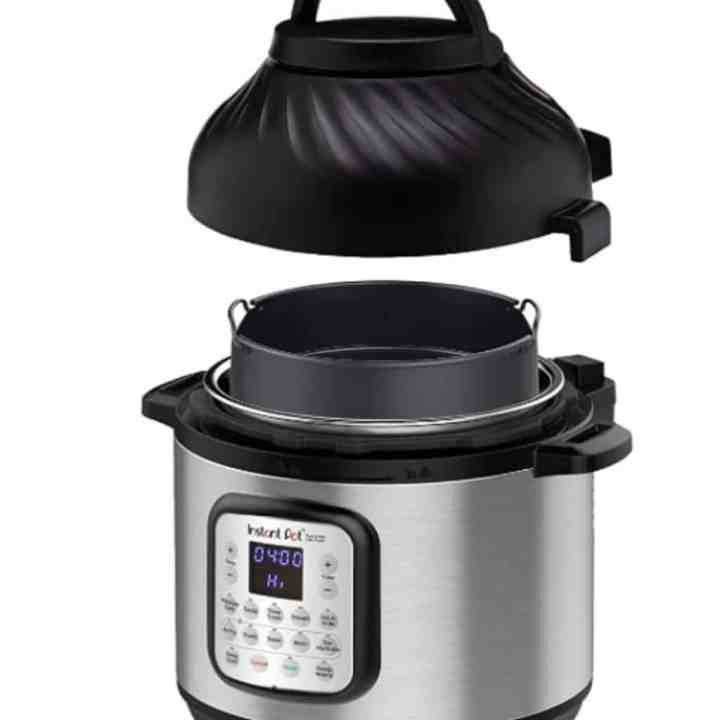 instant pot duo crisp with lid removed to show size