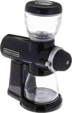 kitchenaid burr grinder, 7 oz, onyx black