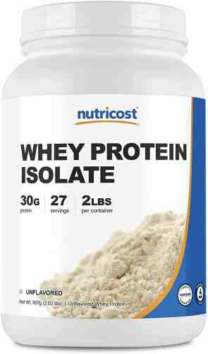 nutricost whey protein isolate unflavored 2lbs