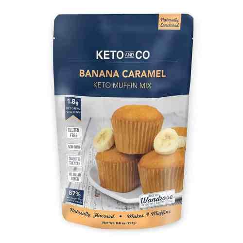 keto and co banana caramel muffin mix