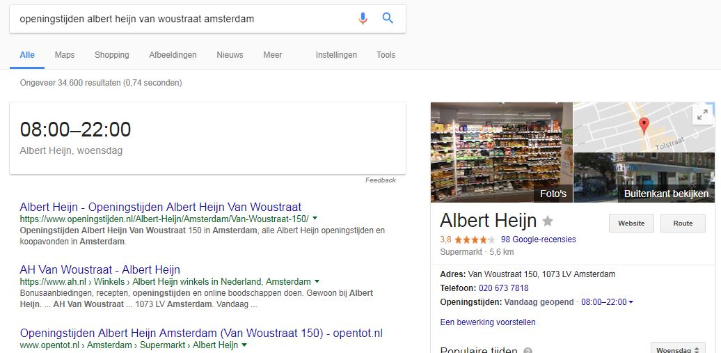 ah local search albert heijn