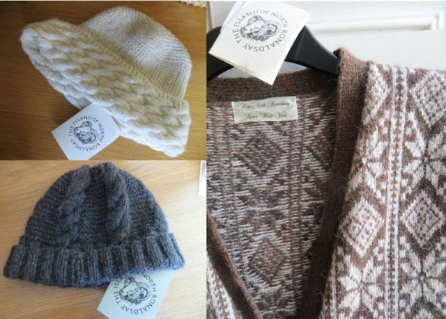 Beautiful knitwear produced from the wool of North Ronaldsay sheep