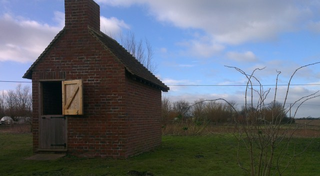 Reconstructed Lookers' hut, Romney Marsh Visitor Centre