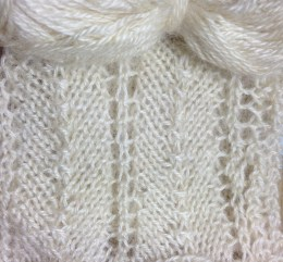 Louise's own Teeswater swatch