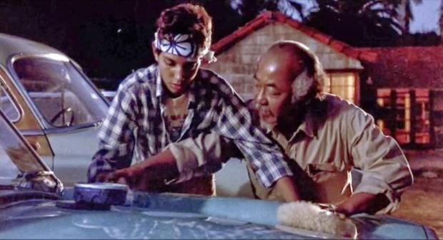 Mr Miyagi, wax on wax off