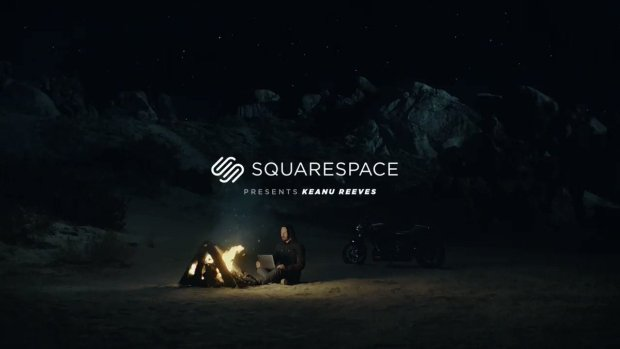 Squarespace template website builder featuring Keanu Reeves