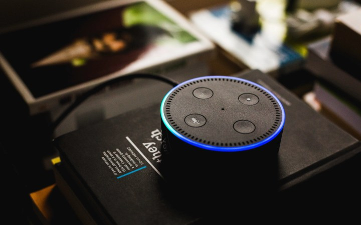 Picture showing an Amazon Echo Dot on which you can use Alexa skills