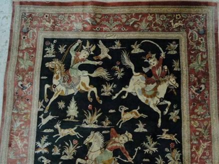 Fine Persian Silk Qum Rug Carpet-11