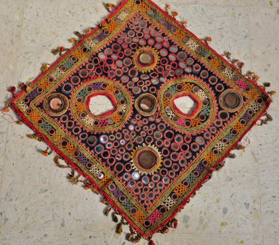 ANTIQUE CEREMONIAL CAMEL HAT FROM KUTCH GYPSY TRIBES, GUJARAT