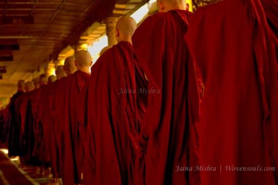 Donation Ritual at Kyakhatwine Monastery, Myanmar