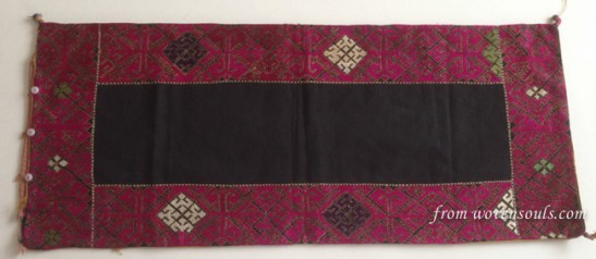 OLD SILK EMBROIDERY TEXTILE - FROM SWAT HAZARA NWFP