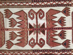 Antique Karakalpak Tentband Rug