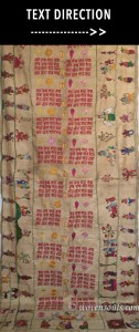 Antique Vrindavani Assam Silk Embroidery Altar Curtain
