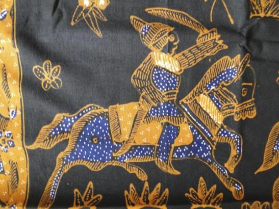 Vintage Java Batik figurative textile-33