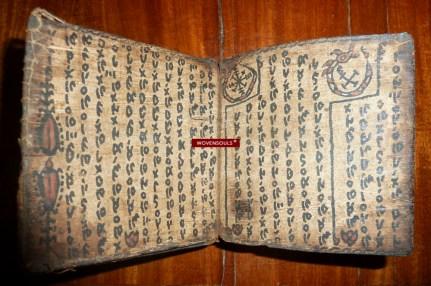 Antique Batak Manuscript on wood bark.