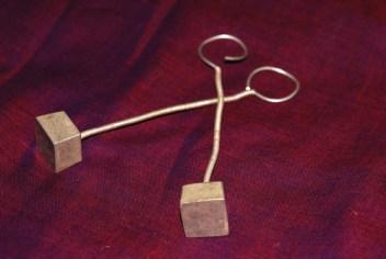 Old rabari tribe silver jewelry earring
