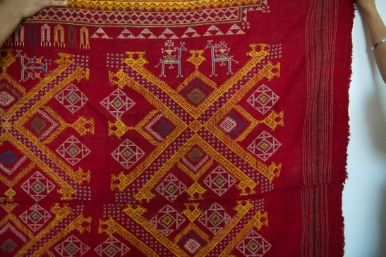 ATI-617 ANTIQUE SHEKHAWATI BISHNOI SHAWL ODHANA FROM RAJASTHAN