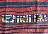 ntique Yuncu Tribal Kilim with Pile Bands