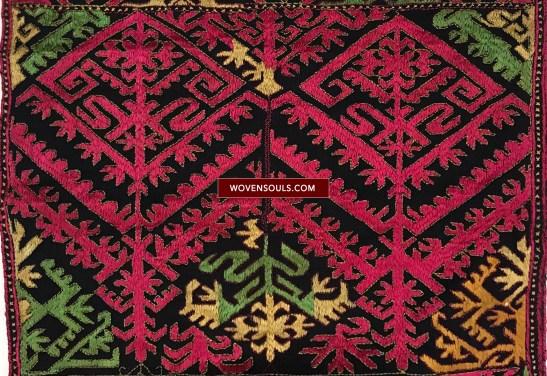 1351 A Antique Kohistan Textile embroidery Panel Masterpiece 01 WM