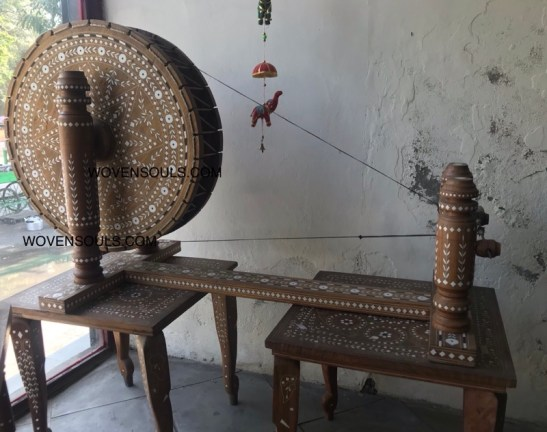 A Charkha Spinning Wheel - WOVENSOULS