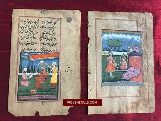 297 Antique Indian Miniature Painting Urdu Din I ilahi