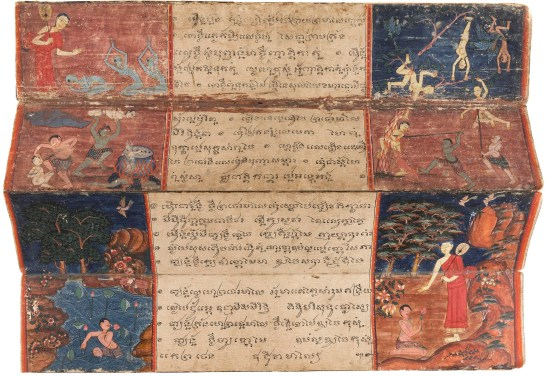 ANTIQUE BUDDHIST THAI PHRA MALAI MANUSCRIPT 17th - 18th c