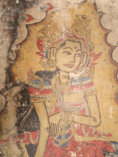 547 ANTIQUE BALI KAMASAN PAINTING