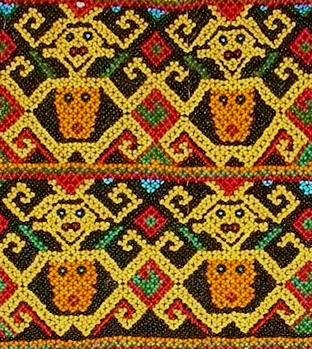 849 ANTIQUE BEADED DAYAK SKIRT