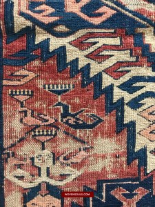 Antique Dragon Carpet Soumac Sumac Sumakh Fragment from Azerbaijan