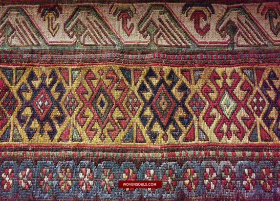 1413 Antique Kuba Soumac Sumakh Sumac Konaghend traditional village rug WOVENSOULS