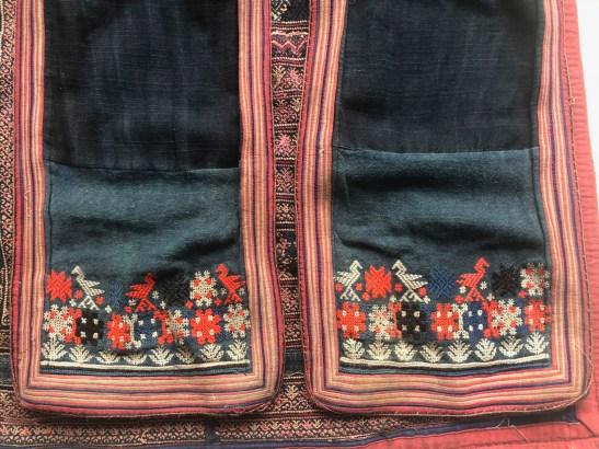 vintage Yao Hilltribe emrboidered textile tunic robe