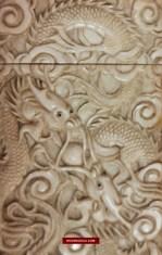 Antique Card Case Japanese Bone