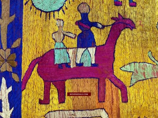 1455 Rare Antique Sainchi Phulkari