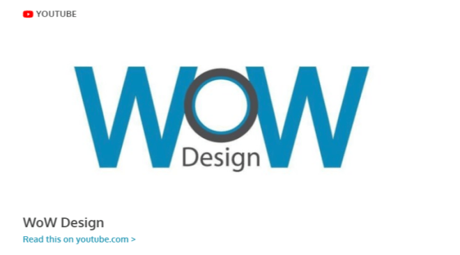 WoW Design Studio on YouTube