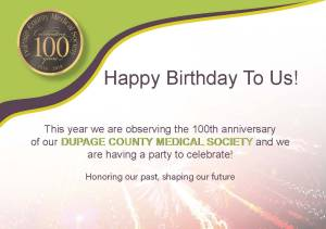 DuPage County Medical Society Postcard