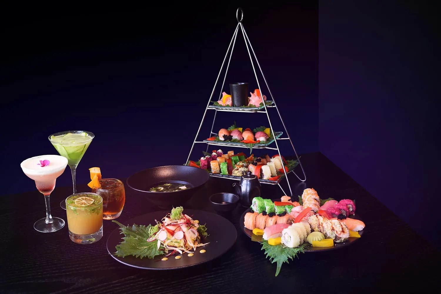 Neon Sushi Nights at Sanchaya ras al khaimah