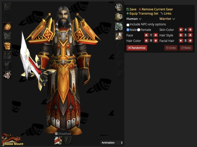 16370 wow classic model viewer spotlight create your character in the dressing room