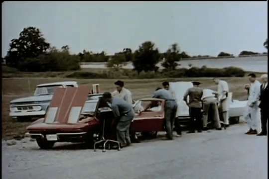 1963 Chevrolet Corvette Sting Ray - At Test Track