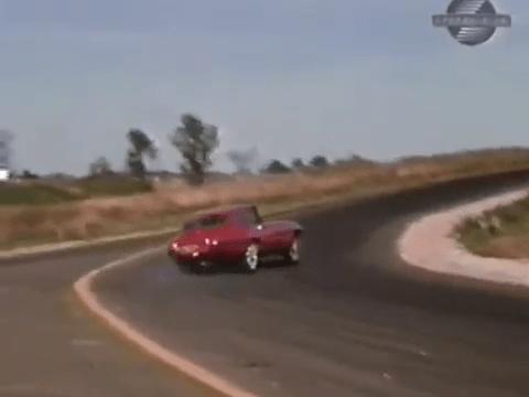 4 Wheel Slide 1968 Jaguar XKE Road Test
