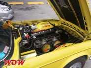 Yellow Triumph Engine Bay