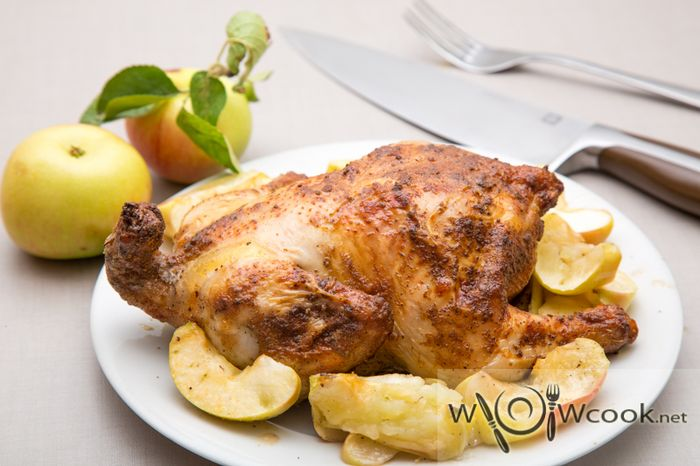 چگونه کل مرغ را در اجاق گاز بخوریم