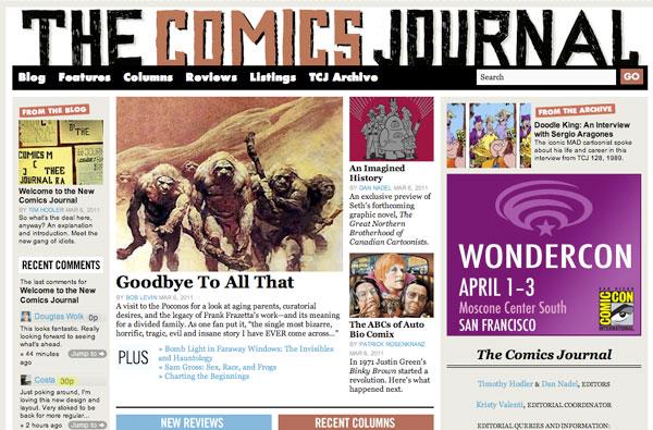 Comics Comics Takes Over TCJ.com & Arthur Magazine Closes