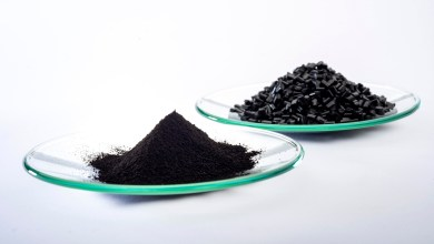 Quickly separating black plastic packaging according to type