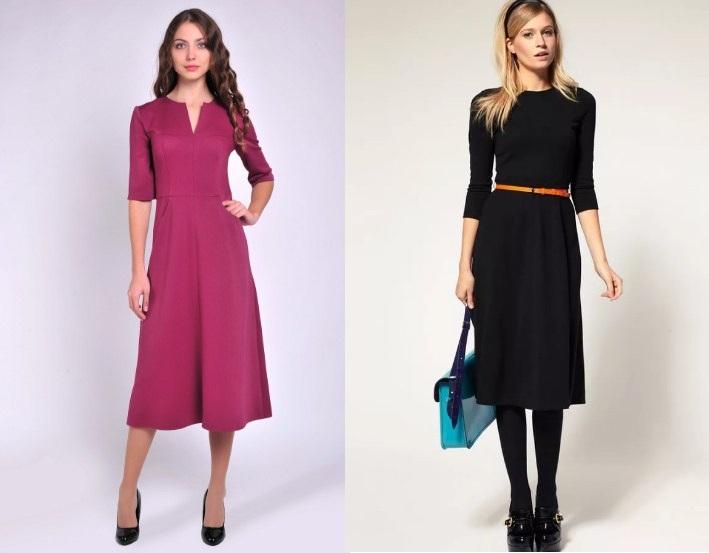 66d10fde5c8 И в зависимости от фасона такое платье способно подчеркнуть все лучшие  достоинства любой женской фигуры. Платья «миди» также не потеряли своей  актуальности.
