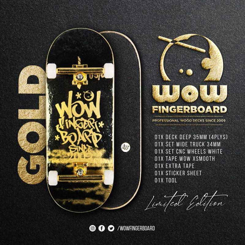 Wow Fingerboard Limited Edition - Retrô Gold