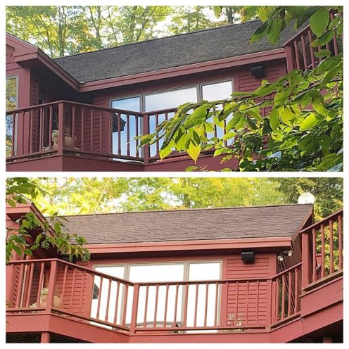 Before and After Roof Cleaning Delaware