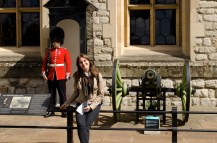 Con la guardia a Tower of London