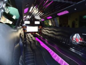 Purple Interior Photo Of Cadillac Escalade Super Stretch Photo
