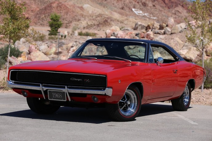 The 1968 Dodge Charger RT Red